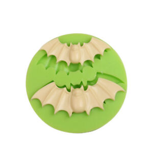 Scary Haunted Bats Halloween Silicone Mould Cake Decorating Cake topper Icing