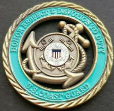 U.S COAST GUARD (CUT OUT) Challenge Coin FREE COIN STAND AND BRAND NEW FITTED CO