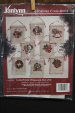 NIP Janlynn Christmas Cross Stitch - GINGERBREAD ORNAMENTS (set of 8) #125-139