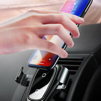 1Pc Wireless Car Mount Air Vent Phone Holder Fast Charger For Mobile Phone Gift