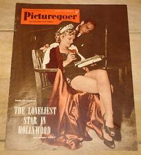 MARILYN MONROE ~ RARE MARILYN COVER & CONTENT ~ PICTUREGOER MAGAZINE COVER 1952