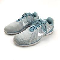 Nike In Season TR 6 Training Running Shoes Womens 8.5 Mica Blue White 852449 005