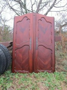 Antique 18th Century French Cherry Normandy Country Doors  From Armoire  c1790