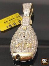 Men's 10K Yellow Gold with 1CT Diamonds,Uniquely Design Car Keys Charm Pendent