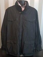 Calvin Klein 4 Pocket Hooded Zip Front Jacket Black Size 2XL