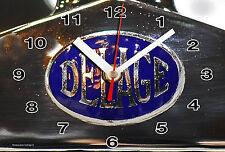 HORLOGE MURALE Logo ANCIEN DELAGE SUR TOLE BRONZE -01M