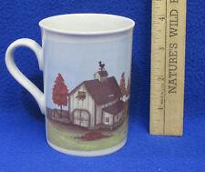 Coffee Mug Cup Design by Mindy Cain Autumn Fall Barn Farm Shed Weathervane
