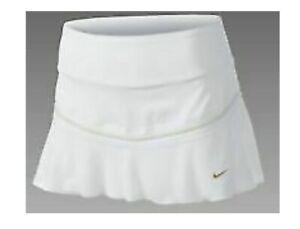 NIKE MARIA SHARAPOVA ACE TENNIS SKIRT SKORT WHITE/BRONZE NWT L  425912-100