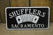 New listing Sacramento Shufflers Vtg Style Car Club Plaque Hot Rod Custom Rat Scta Nhra Auto