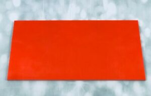 G10 Hunter Orange 300x150x6mm Sheet for knife handle scales/bushcraft/slingshots