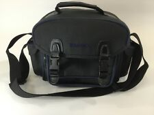 Ambico Camera Case Large  Black/Navy Great Condition Travel Vacation Free Ship