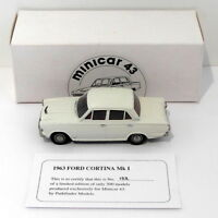 Pathfinder Minicar 43 1/43 Scale MIN5 - 1963 Ford Cortina Mk I 1 Of 300 White