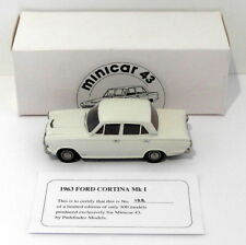 Pathfinder Minicar 43 1/43 Scale MIN5 - 1963 Ford Cortina Mk I 1 Of 300 White
