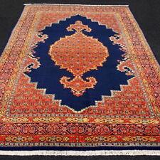 Orient Teppich Dunkelblau 305 x 220 cm Perserteppich Handgeknüpft Blue Carpet