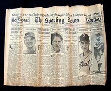 APR 15, 1937 SPORTING NEWS WEEKLY - BAKER DICKSHOT LAWSON CONNIE MACK