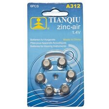 30 × A312 TIANQIU Hearing Aid Battery Brand New Factory Direct
