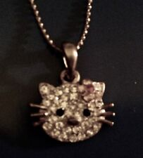 """Free Shipping! Vintage """"Hello Kitty"""" Charm Necklace with Silvertone Chain"""