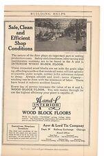 1916 Ayer & Lord Wood Block Floors Company Advertisement