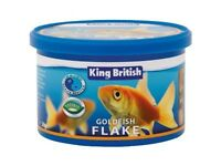 King British Goldfish Flake 2Kg Complete Coldwater Fancy Fish Food Tropical Fish
