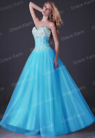Pageant Quinceanera Long Prom Ball Gown Bridesmaid Wedding Evening Formal Dress