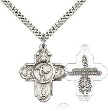 "FIVE WAY ST. SEBASTIAN / ST CHRISTOPHER CATHOLIC / SOCCER ""PEWTER"" MEDAL"