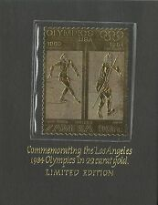 Zambie Sport Javelot Jeux Olympiques Los Angeles Olympics Games ** 1984 Or Gold