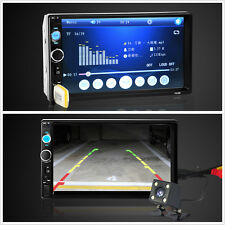 "Autos 2 DIN 7"" touch screen Bluetooth Radio Stereo FM MP5 MP3 USB SD MMC LETTORE"