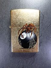 """Zippo  """"EIGHT  BALL WITH SPIDER"""" - Messing -  NEU & ovp - #534"""