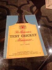New listing 1962-63 ROTHMANS TEST CRICKET ALMANAC