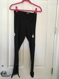 Women's Black Pearl Izumi fleece lined full leg Tight Cycling Running Pants Sz L
