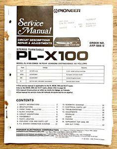 Pioneer PL-X100 Service Repair Manual: Stereo Turntable