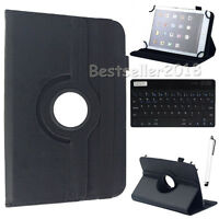 US For Samsung Galaxy Tab A/E/4/3/2 Bluetooth Keyboard//Leather Stand Case Cover