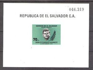 Salvador 1964 John F Kennedy Miniature Sheet MNH (SC# 750)