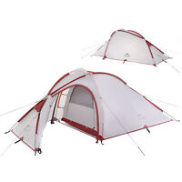 Naturehike 2-4 Person 2-Room Double-Layer Backpacking Camping Tent Living Room