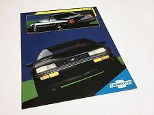 1987 Chevrolet Beretta Information Sheet Brochure