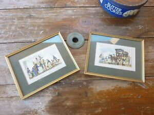 2 gravures encadrées de Henry Lemarié,11,5x16,5cm