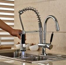 Polished Chrome Kitchen Sink Pull Out Spray Faucet Mixer Tap Swivel Spout ysf079