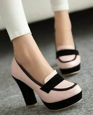 Pumps, Classics Block Synthetic Casual Heels for Women