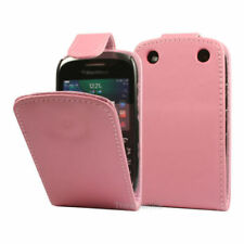 BLACKBERRY CURVE 9320 PINK FLIP LEATHER CASE