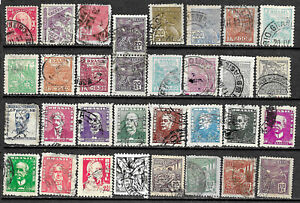 Brazil - Collection of 32 older used stamps - See scan