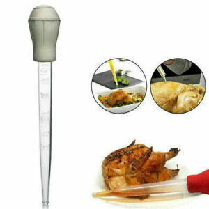 Turkey Baster Chef Cooking Gravy BBQ Flavour Food Clear Tube Syringe Pump Pipe