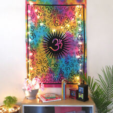 Multi Color Om Ethnic Art Poster Tapestry Indian Cotton Wall Hanging