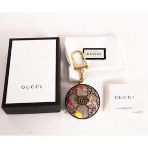 NEW GUCCI Logo GG Supreme Canvas OPHIDIA FLORA Bag Trick TAPE MEASURE KEYCHAIN