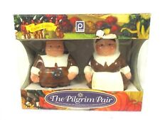 Pilgrim Pair Publix Thanksgiving Salt Pepper Shakers Set Collectible Bin T4