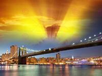 PHOTOGRAPH CITYSCAPE NEW YORK CITY USA BROOKLYN BRIDGE ART PRINT POSTER MP3315A