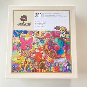 Wentworth Jigsaw  Aimee Stewart  - A Stitch in Time - 250 Pieces Complete *Rare*
