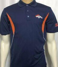 Denver Broncos Golf Polo NFL Team Apparel Polyester Short Sleeve Small Shirt