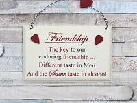 Friendship The key to … plaque sign