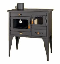 Wood Burning Cooking Stove Cast Iron Top Oven Cooker LEFT flue Exit 10kw