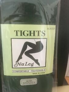 """NEW  NU LEG TIGHTS PANTYHOSE ONE SIZE 100-165 LBS.5'-5'8"""""""